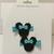 N200– Blue Polka Dot Mouse Hairclips Set
