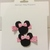 N203- Pink Polka Dot Mouse Hairclips Set