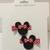 N207- Red Polka Dot Mouse Hairclips Set