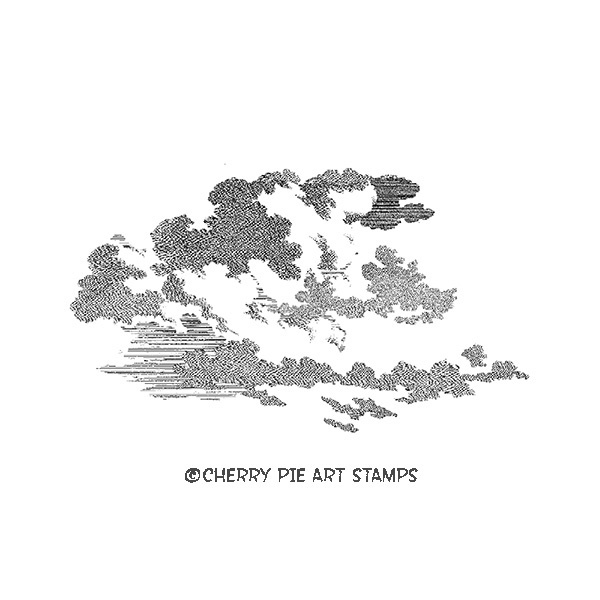Large cloud- CLiNG RuBBer STaMP for acrylic block by Cherry Pie P440