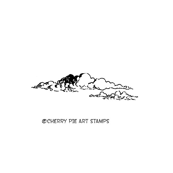 Far clouds- CLiNG RuBBer STaMP for acrylic block by Cherry Pie C138