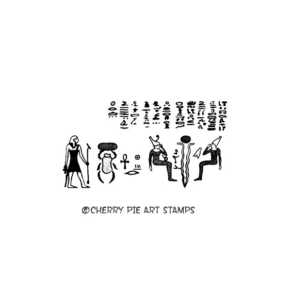 Egyptian hieroglyphics - CLiNG RuBBer STaMP by Cherry Pie L341