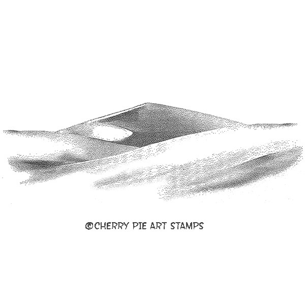 Dunes,desert- CLING STAMP- Rubber stamp by Cherry Pie Q477