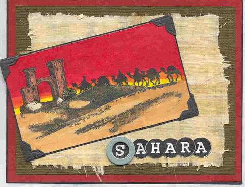 Desert CARAVAN- CLING STAMP- Rubber stamp by Cherry Pie D151