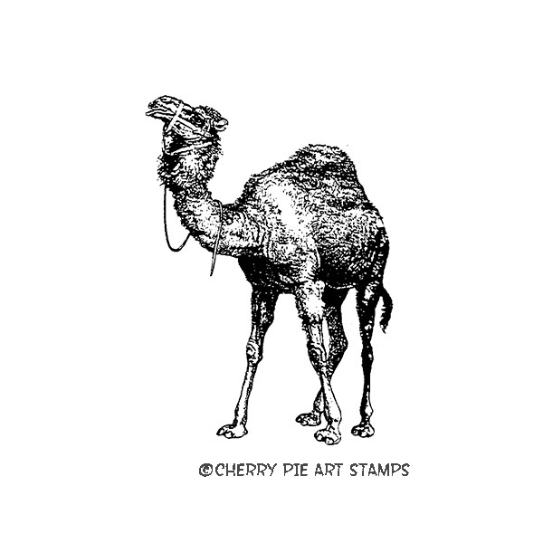 Camel- CLING STAMP- Rubber stamp by Cherry Pie N384