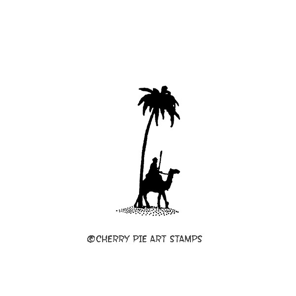 Tuareg, desert nomad on camel- CLING STAMP- Rubber stamp by Cherry Pie C135