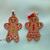 FSL jewelry gingerbread girl/boy earrings/pendant/christmas tree decoration Free
