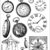 WATCHES, clocks, Time - set of unmounted rubber stamps by Cherry Pie PL6
