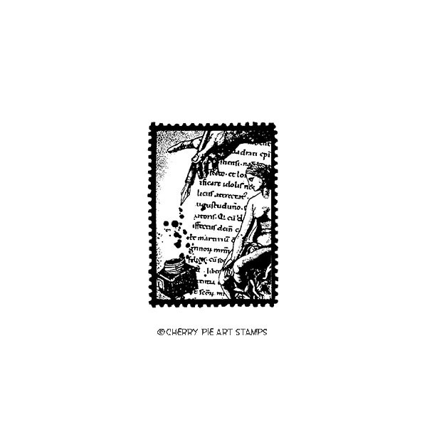Calligraphic POSTOID- CLiNG RuBBer STaMP by Cherry Pie E221