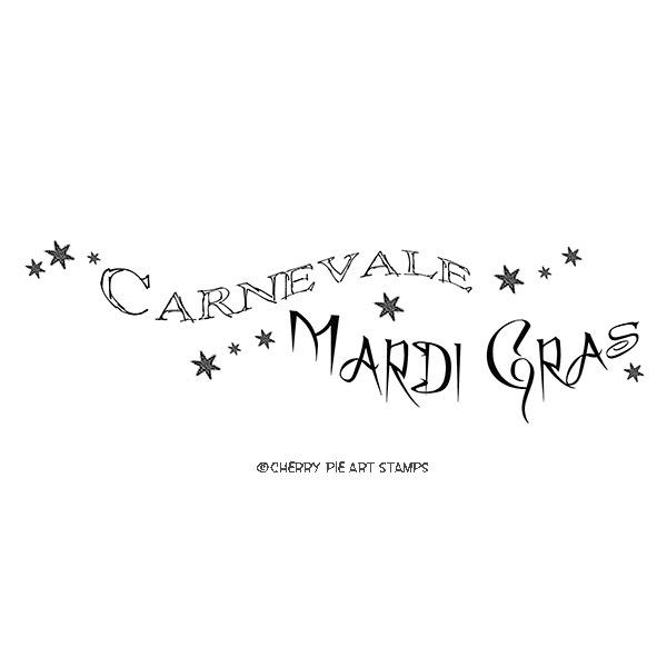 Mardi Gras, Carnival - Carnival, Mardi Gras- CLiNG RuBBer STAMP L357