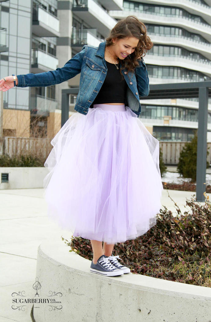 4bf80ecd53a9f Purple Tulle Skirt