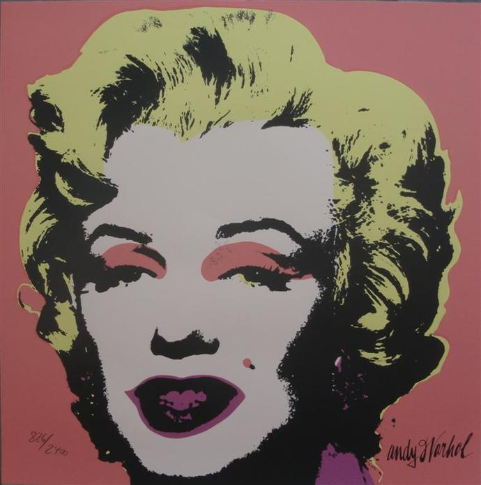 Andy Warhol Marilyn Monroe signed lithograph 826/2400 II.31