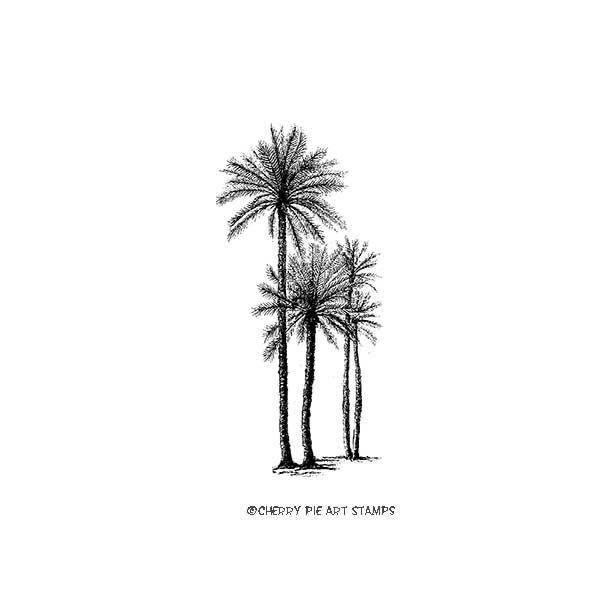 Palm tree (medium)- CLiNG Rubber STAMP by Cherry Pie E197