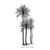 Palm trees (Large)- CLiNG Rubber STAMP by Cherry Pie L326