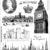 LONDON, ENGLAND, UK, Great Britain- unmounted rubber stamps set - travel