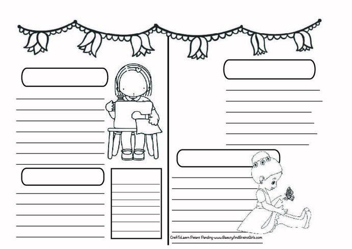 Sewing Art Journal  DIY Printable Instant Download Bullet Journal, Happy