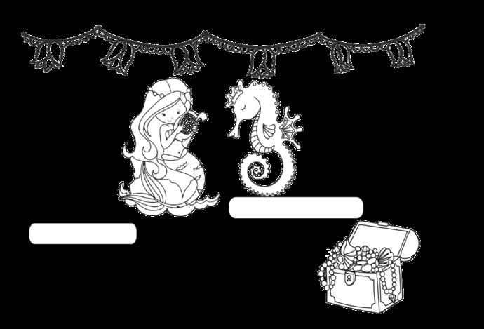 Mermaid Theme Journal  DIY Printable Instant Download Bullet Journal, Happy