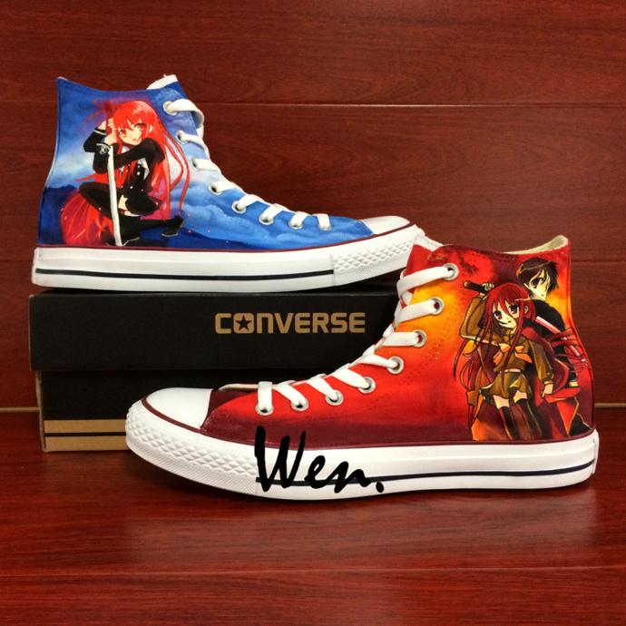 b6d305bf85 Anime Hand Painted Shoes Custom Design Shakugan No Shana Graffiti Shoes  Converse