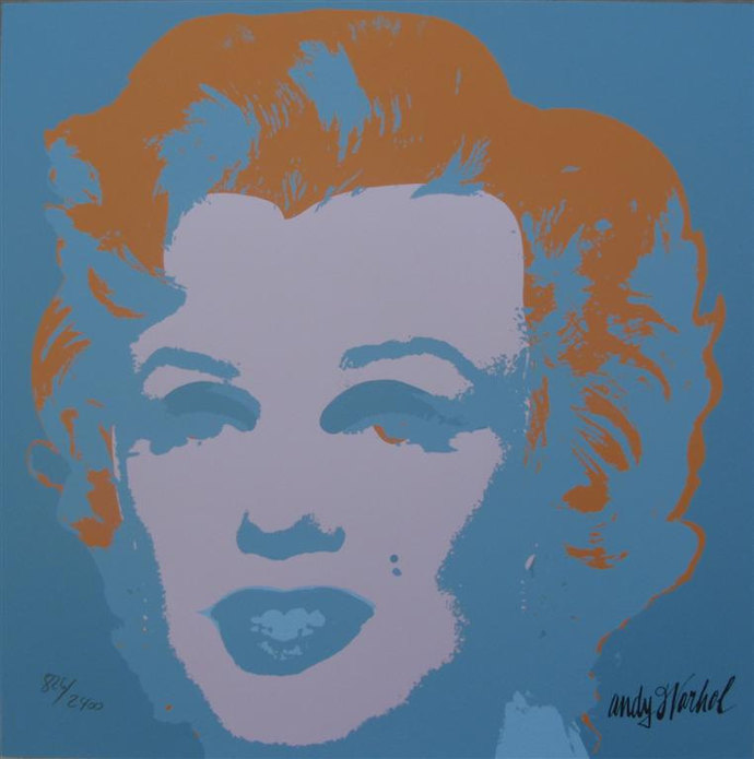 Andy Warhol Marilyn Monroe lithograph signed limited edition 826/2400 II.29