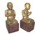 Antique Burmese wooden Disciples 19th century Myanmar Burma Buddha Monks TOP