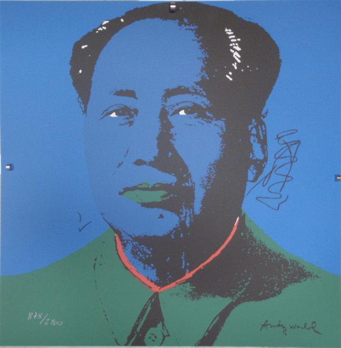 Andy Warhol signed lithograph Mao Zedong authenticated 878/2400 II.99