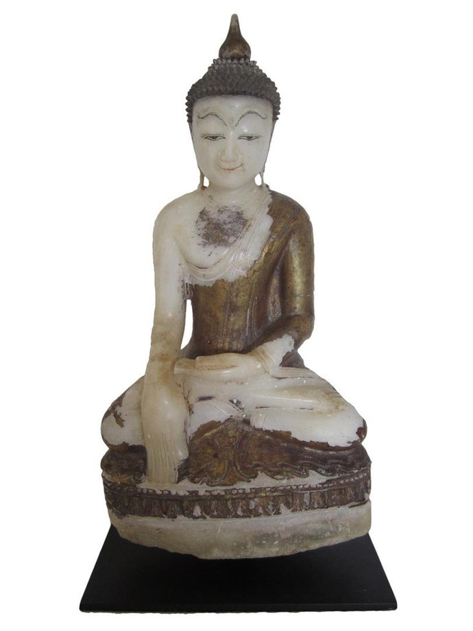Alabaster Myanmar Burma Shan antique Buddha 18th - 19th century