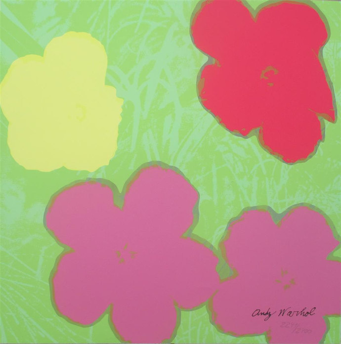 Andy Warhol Flowers signed limited edition lithograph 2241/2400 II.68