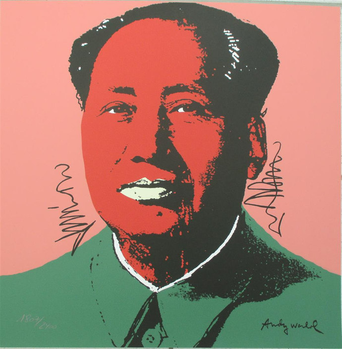 Andy Warhol signed lithograph Mao Zedong authenticated print 1807/2400 II.94