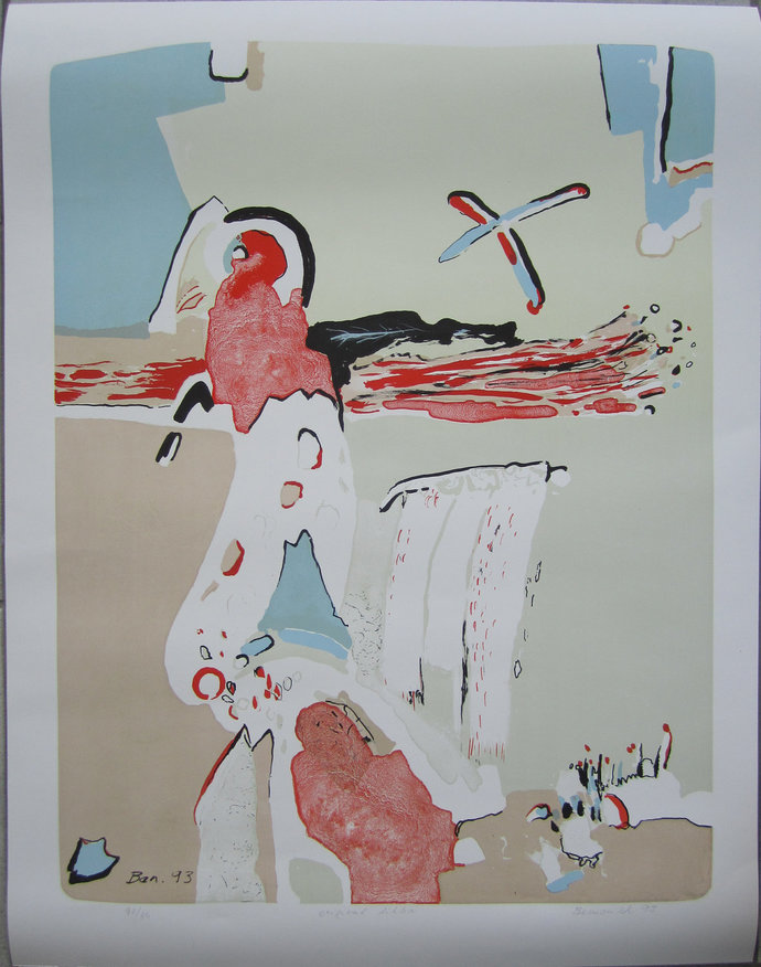 Parrot lithograph signed numbered Vaclav Benedikt