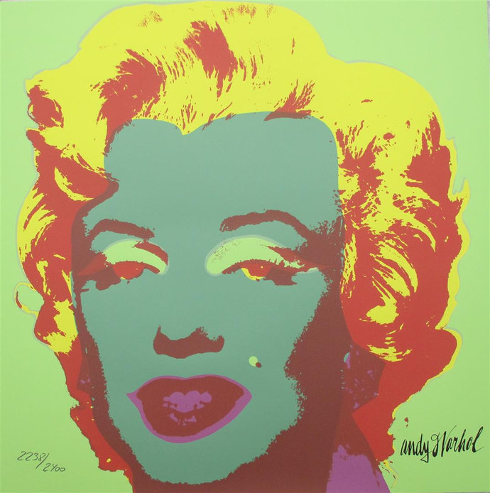 Andy Warhol Marilyn Monroe signed limited edition 2238/2400 II.25