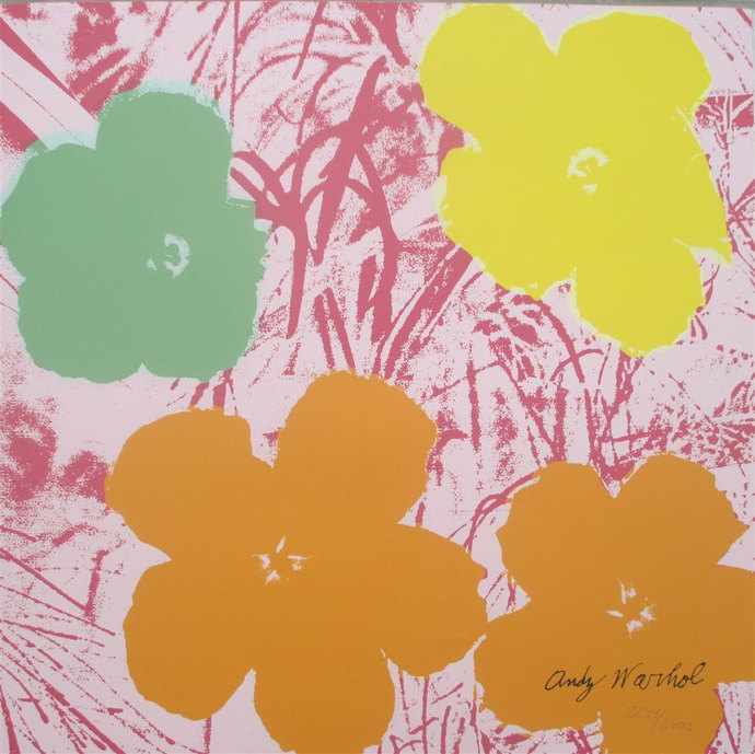 Andy Warhol lithograph FLOWERS limited edition 2241/2400
