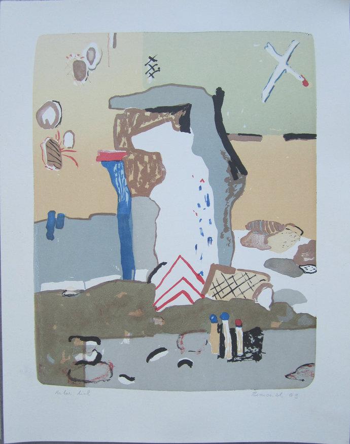 Vaclav Benedikt lithograph handsigned White Bear EA/85