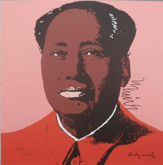 Andy Warhol signed lithograph Mao Zedong authenticated 874/2400, II.96