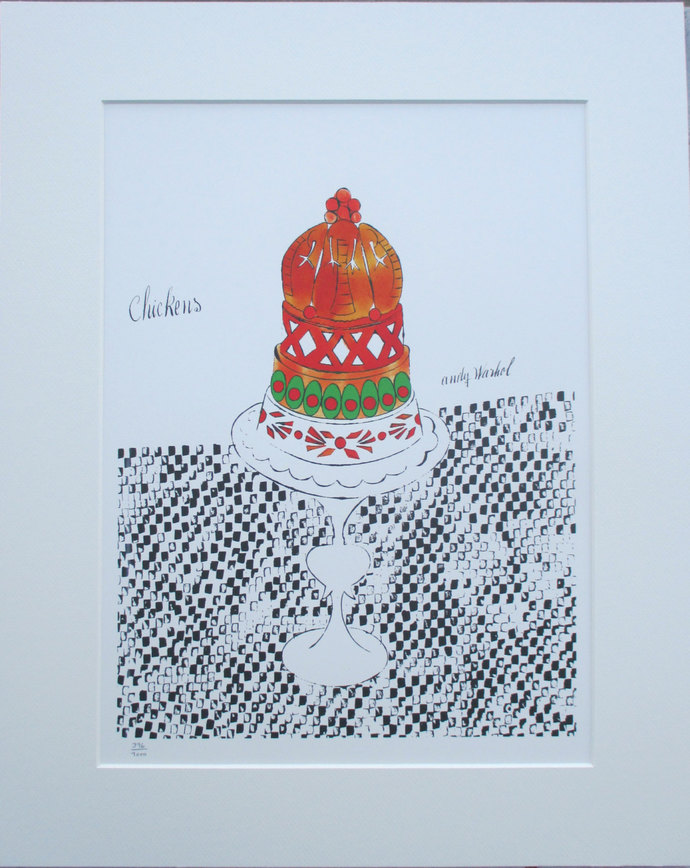 Andy Warhol print Chickens limited edition 1000