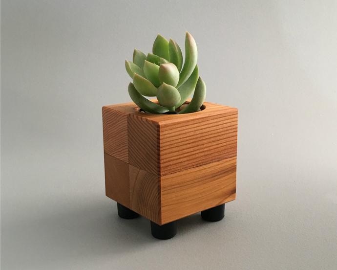 Reclaimed Wood Succulent Planter Pot
