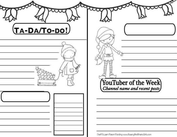 YouTuber Art Journal-BALLERINA Instant Download-Happy Planner- Bullet