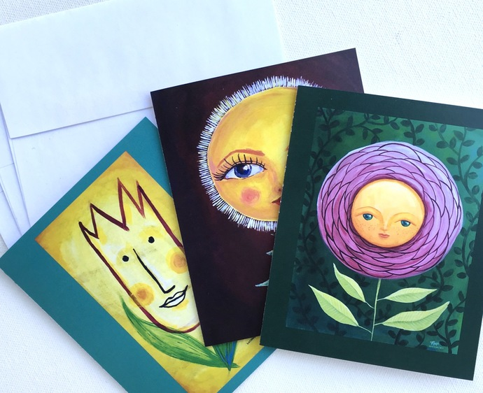 Greeting Cards : Rose, Girasol, Helena