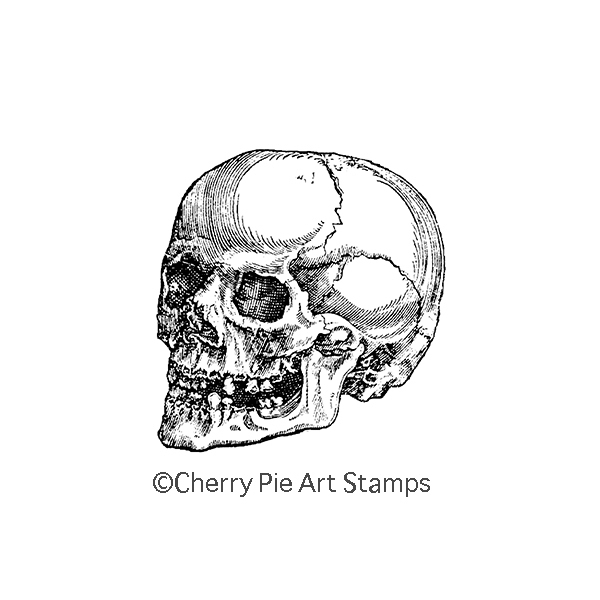 SKULL Rubber Stamp- CLinG StAmp by Cherry Pie G275
