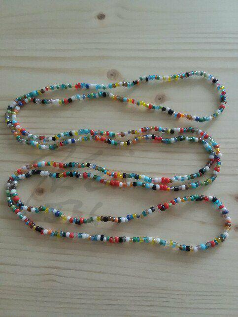 Multi Seed Bead Necklace - 39in. Single strand
