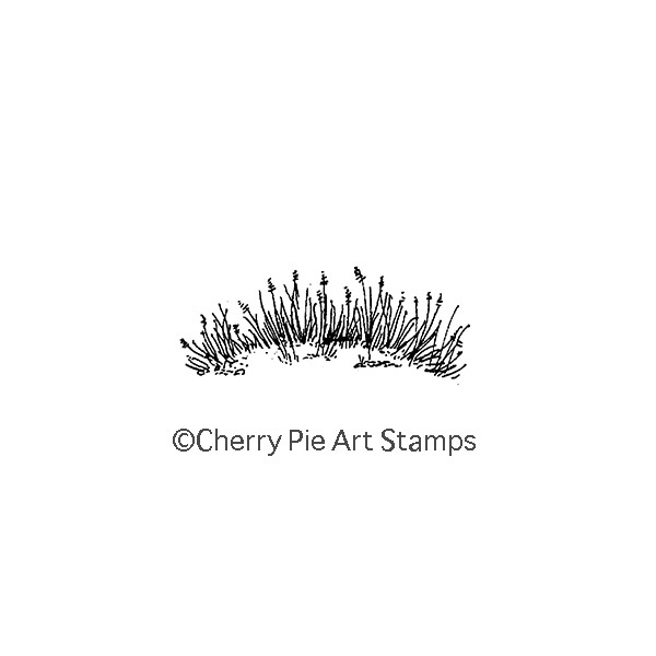 Tall grass - CLING rubber STAMP for Acrylic Block by Cherry Pie D167