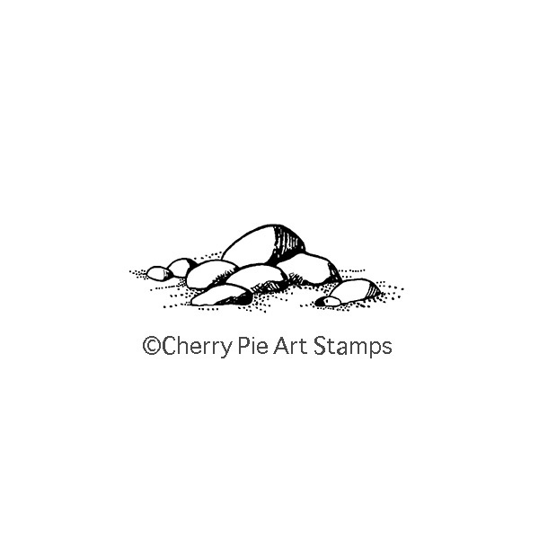 Stones - CLING rubber STAMP for Acrylic Block by Cherry Pie C140