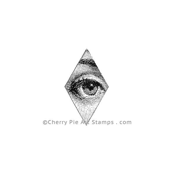 Diamond eye -woman - CLING STAMP by Cherry Pie Art Stamps E163