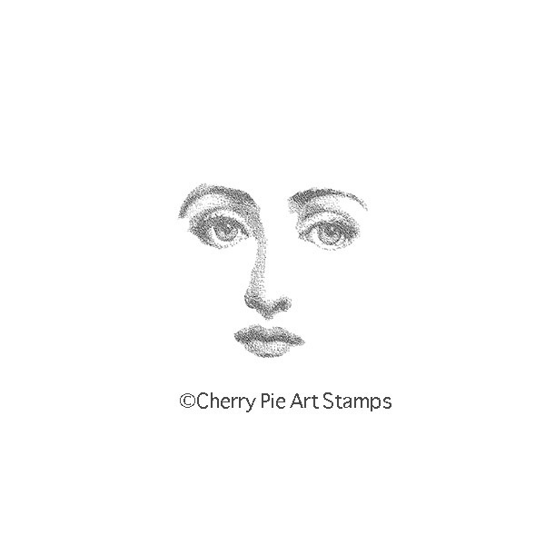 Shadow face -Woman features  CLING RuBBer STAMP by Cherry Pie G244