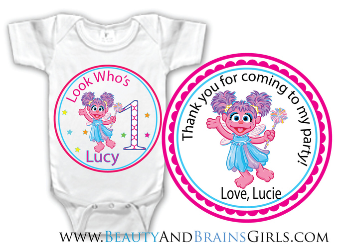 Daniel The TigerCustom Birthday Party Favor Labels and Shirt With Your Purchase