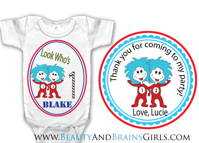 Thomas The Train Custom Birthday Party Favor Labels and Shirt With Your Purchase