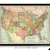 Vintage 1906 Map of United States of America
