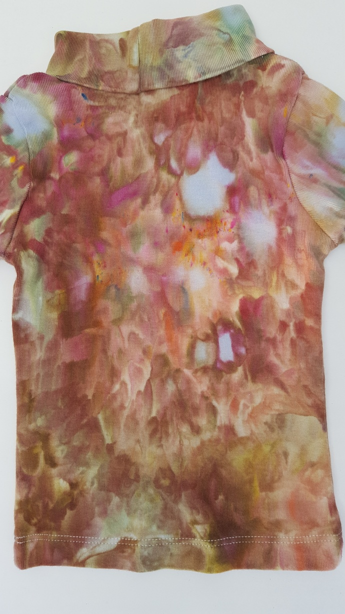 Baby's  Turtleneck - Neutral Colors- Ice Dyed Baby's Top - Size 12 Months -