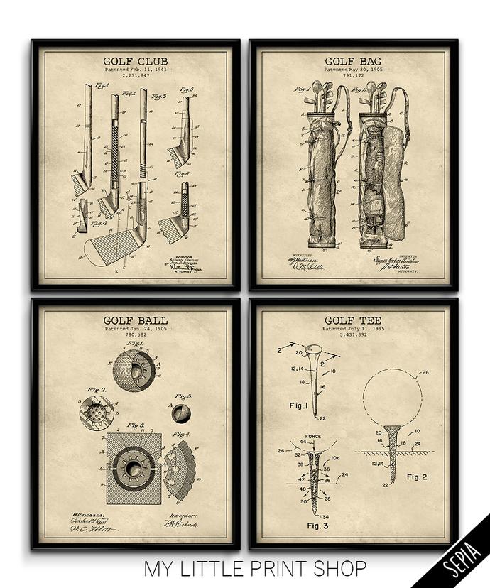 Vintage Golf Patent Set