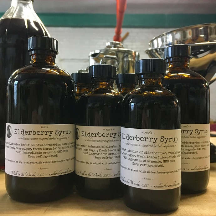 Elderberry Syrup, Organic and Handcrafted with LoVe - 4 ounces