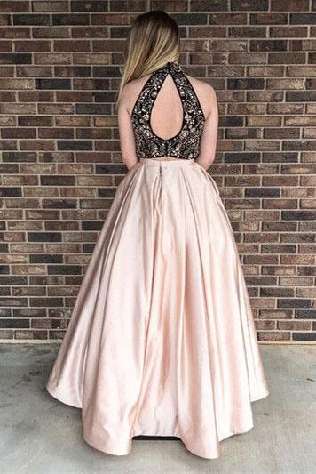 Two Pieces Elegant 2018 Prom Dresses,Prom Dresses,Formal Women Dress,prom